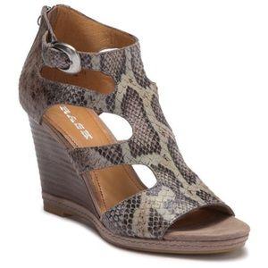 Trask snakeskin embossed sandals